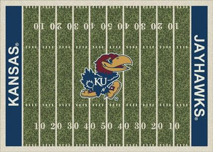 "Kansas Jayhawks 3' 10"" x 5' 4"" Home Field Area Rug"