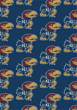 "Kansas Jayhawks 3' 10"" x 5' 4"" Team Repeat Area Rug"