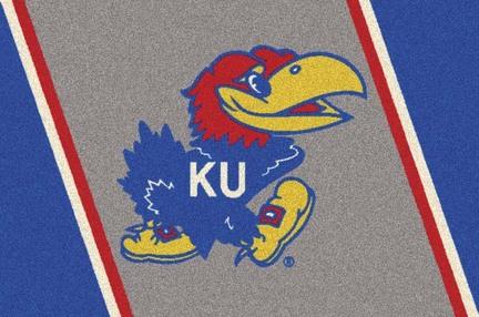 "Kansas Jayhawks 3'10"" x 5'4"" Team Spirit Area Rug"