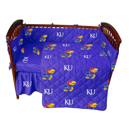 Kansas Jayhawks Baby Crib Set