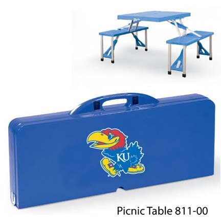 Kansas Jayhawks Portable Folding Table and Seats