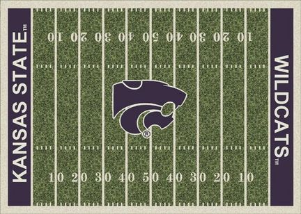 "Kansas State Wildcats 3' 10"" x 5' 4"" Home Field Area Rug"