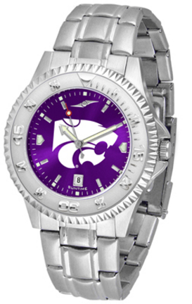Kansas State Wildcats Competitor AnoChrome Men's Watch with Steel Band