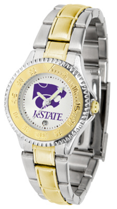 Kansas State Wildcats Competitor Ladies Watch with Two-Tone Band
