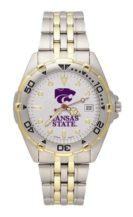 "Kansas State Wildcats ""Kansas St with PCat"" All Star Watch with Stainless Steel Band - Men's"