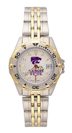 "Kansas State Wildcats ""Kansas St with PCat"" All Star Watch with Stainless Steel Band - Women's"