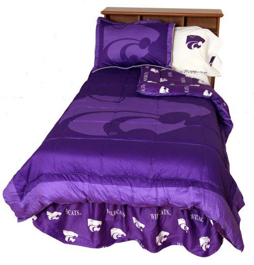 Kansas State Wildcats Reversible Comforter Set (Queen)
