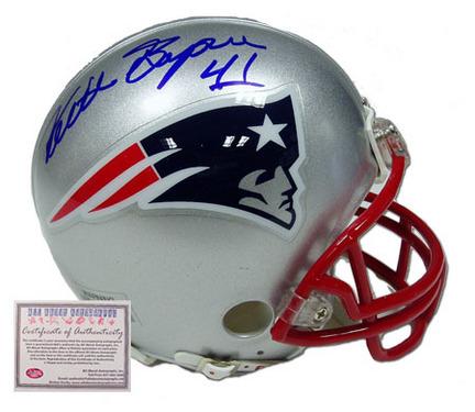 Keith Byars Autographed New England Patriots NFL Mini Replica Football Helmet