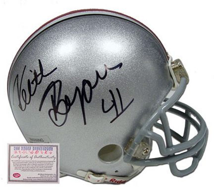 Keith Byars Autographed Ohio State Buckeyes NCAA Mini Replica Football Helmet