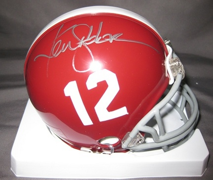 Ken Stabler Alabama Crimson Tide NCAA Autographed Mini Football Helmet