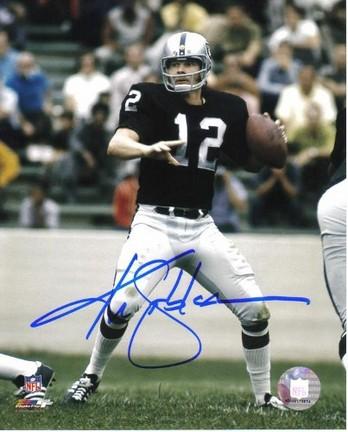"Ken Stabler Oakland Raiders NFL ""Black Jersey"" Autographed 8"" x 10"" Photograph"