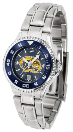 Kent State Golden Flashes Competitor AnoChrome Ladies Watch with Steel Band and Colored Bezel