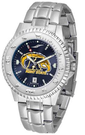 Kent State Golden Flashes Competitor AnoChrome Men's Watch with Steel Band