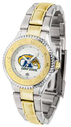 Kent State Golden Flashes Competitor Ladies Watch with Two-Tone Band