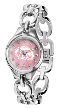 Kent State Golden Flashes Eclipse Ladies Watch with Mother of Pearl Dial