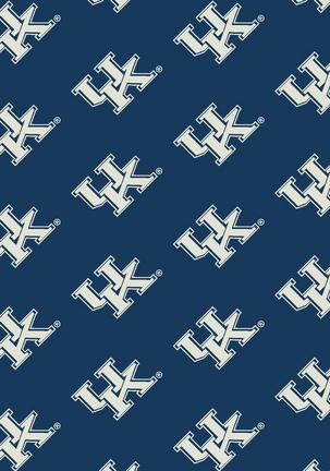 "Kentucky Wildcats 3' 10"" x 5' 4"" Team Repeat Area Rug"
