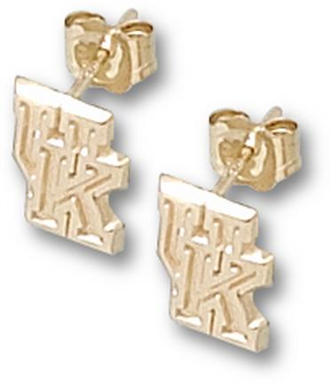 "Kentucky Wildcats 5/16"" ""UK"" Post Earrings - 10KT Gold Jewelry"