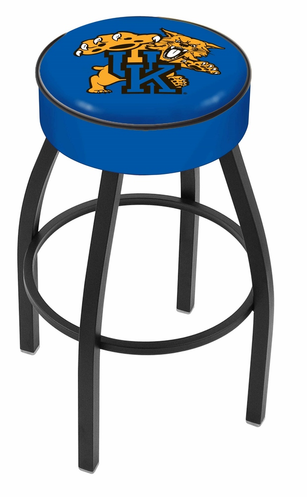 "Kentucky Wildcats (L8B1) 30"" Tall Logo Bar Stool by Holland Bar Stool Company (with Single Ring Swivel Black Solid Welded Base)"