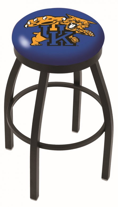 "Kentucky Wildcats (L8B2B) 25"" Tall Logo Bar Stool by Holland Bar Stool Company (with Single Ring Swivel Black Solid Welded Base)"