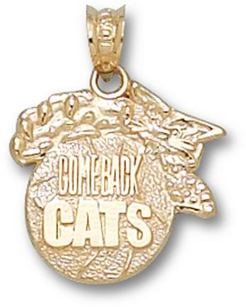 "Kentucky Wildcats Modeled ""Wildcat Comeback Cats"" Pendant - 10KT Gold Jewelry"