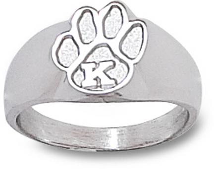 "Kentucky Wildcats ""Paw with K"" Ladies' Ring Size 6 1/2 - Sterling Silver Jewelry"