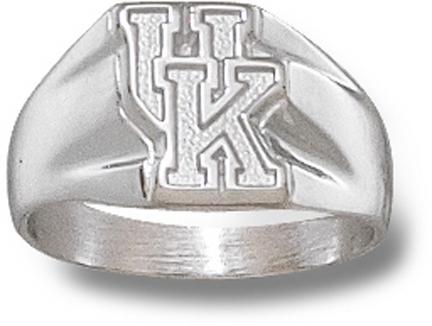 """Kentucky Wildcats """"UK"""" 5/16"""" Ladies' Ring Size 6 1/2 - Sterling Silver Jewelry"""