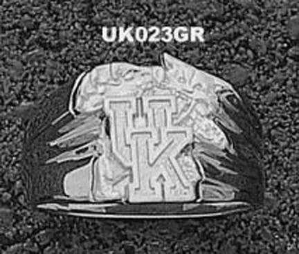 "Kentucky Wildcats ""UK Wildcat"" Men's Ring Siz e 10 1/2 - Sterling Silver Jewelry"