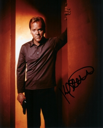 "Kiefer Sutherland Autographed ""24"" 8"" x 10"" Photograph (Unframed)"