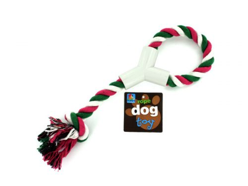 Kole Imports DI141-48 12.5 in. Dog Rope Toy with Hand Grip - Pack of 48