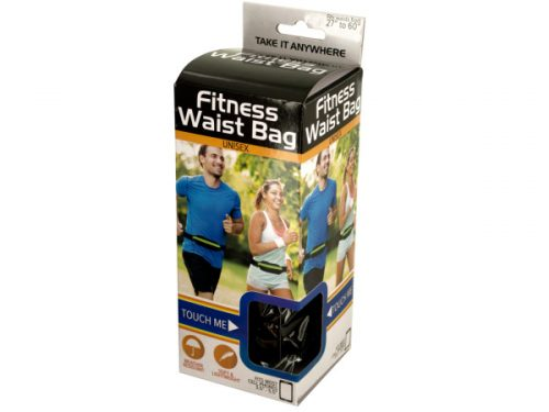 Kole Imports OL455-8 Unisex Fitness Waist Bag - Pack of 8