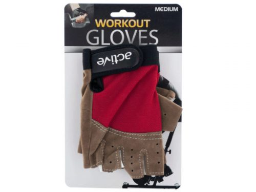 Kole Imports OS955-16 Medium Size Breathable Workout Gloves - Pack of 16