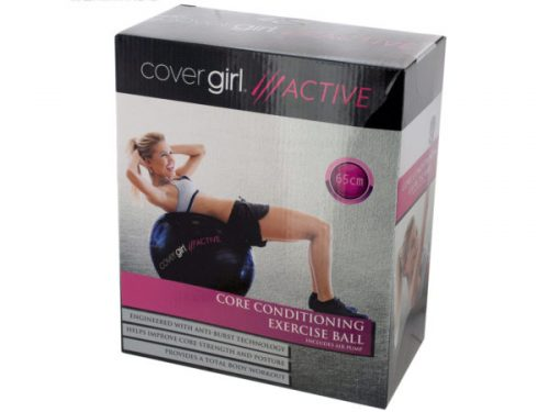 Kole Imports OT748-2 25.5 in. Cover Girl Active Core Conditioning Exercise Ball with Air Pump - Pack of 2