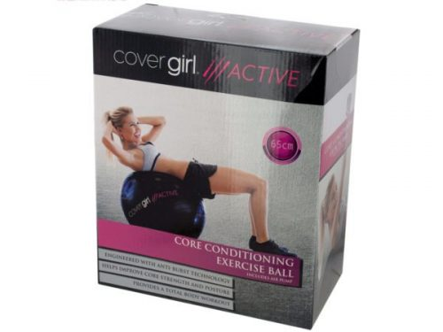 Kole Imports OT748-8 25.5 in. Cover Girl Active Core Conditioning Exercise Ball with Air Pump - Pack of 8
