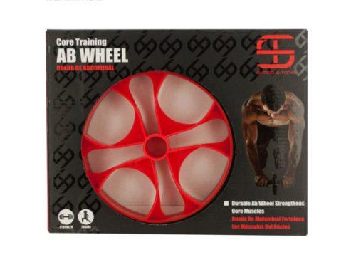 Kole Imports OT754-8 Shred & Tone Core Training Ab Wheel - Pack of 8