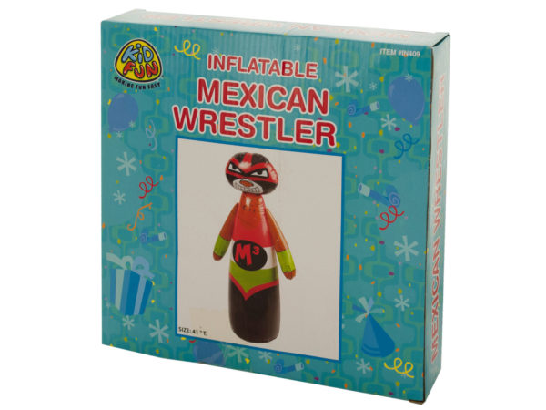 Kole Imports PC352-16 Inflatable Mexican Wrestler - Pack of 16
