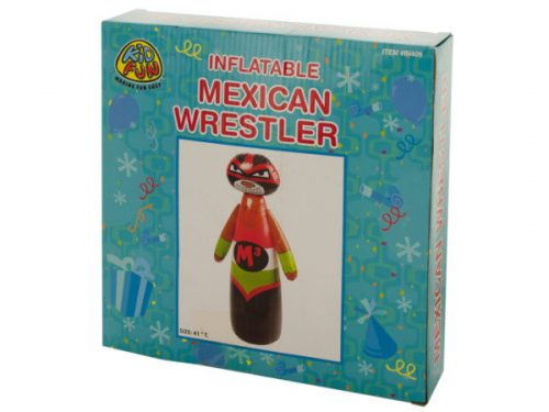 Kole Imports PC352-4 Inflatable Mexican Wrestler - Pack of 4