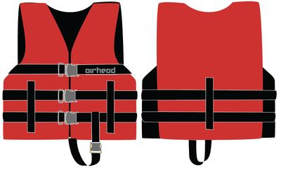 Kwik Tek 10002-02-A-RD Airhead Child General Life Jacket - Red Wetsuit