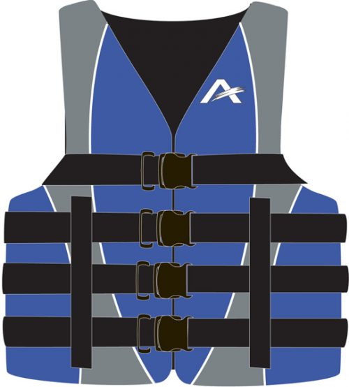 Kwik Tek 10010-05-A-BL Airhead Large-XLarge Dual Adult Nylon Vests - Blue