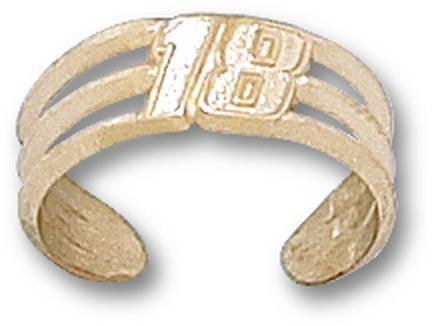 "Kyle Busch Driver Number ""18"" Toe Ring - 10KT Gold Jewelry"