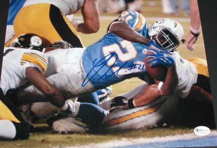"Ladainian Tomlinson Autographed San Diego Chargers 8"" x 10"" Action Photograph (Unframed)"