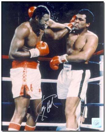 "Larry Holmes Autographed ""Holmes vs. Ali"" 16"" x 20"" Color Photograph (Unframed)"