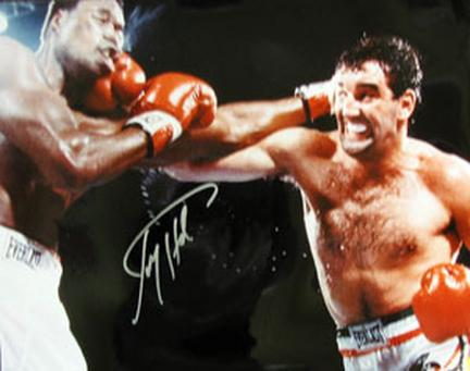 "Larry Holmes Autographed ""vs. Gerry Cooney"" 16"" x 20"" Photograph (Unframed)"