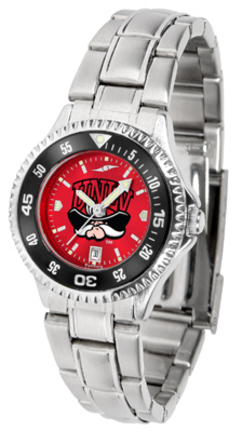 Las Vegas (UNLV) Runnin' Rebels Competitor AnoChrome Ladies Watch with Steel Band and Colored Bezel