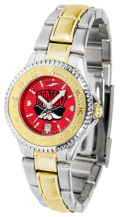 Las Vegas (UNLV) Runnin' Rebels Competitor AnoChrome Ladies Watch with Two-Tone Band