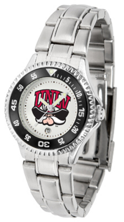 Las Vegas (UNLV) Runnin' Rebels Competitor Ladies Watch with Steel Band