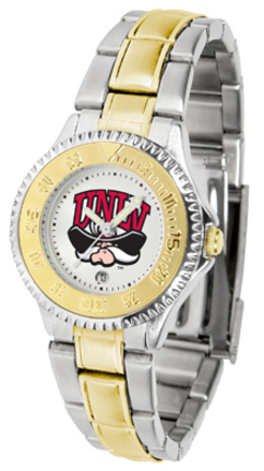 Las Vegas (UNLV) Runnin' Rebels Competitor Ladies Watch with Two-Tone Band