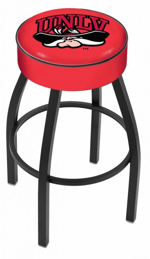 "Las Vegas (UNLV) Runnin' Rebels (L8B1) 30"" Tall Logo Bar Stool by Holland Bar Stool Company (with Single Ring Swivel Black Solid Welded Base)"