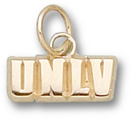 "Las Vegas (UNLV) Runnin' Rebels ""UNLV"" 3/16"" Charm - 14KT Gold Jewelry"