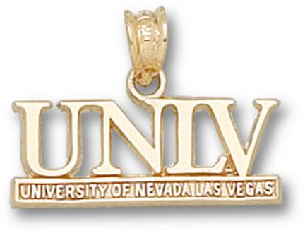 "Las Vegas (UNLV) Runnin' Rebels ""UNLV"" Pendant - 14KT Gold Jewelry"