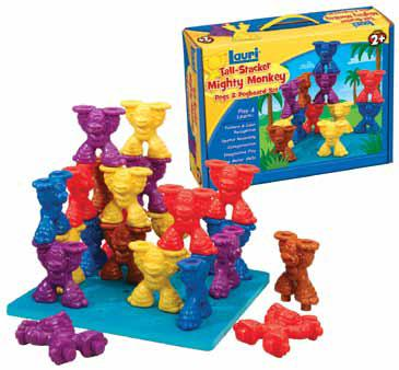 Lauri 2452 Mighty Monkey Pegs & Pegboard Set